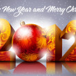 Royalty-Free Stock Векторное изображение: New year 2012 with numbers and bauble
