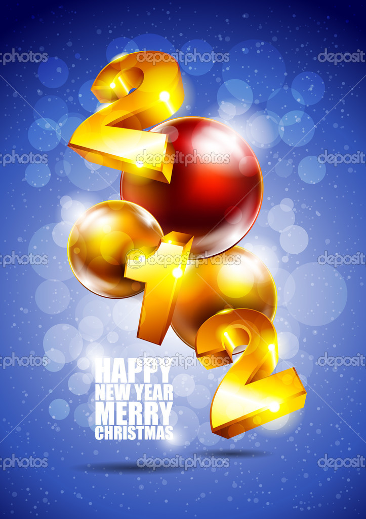 Christmas Card   Stock Vector #7670165