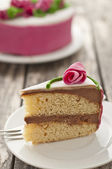 Homemade roses cake — Stock Photo