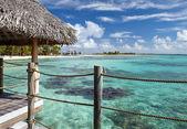 Azure lagoon of island — Stockfoto