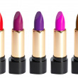 Tubes of different color lipstick — Stock Photo #7025579