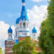 Pokrova Bozhiej Materi's orthodox church in Gatchina, Russia - Stock Photo