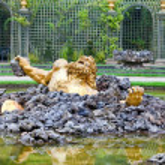 Versailles. Fountain Enkelados (the giant from the Greek mythology.) — Stock Photo #7252346