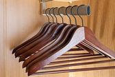 Hanger in a wardrobe — Stock Photo