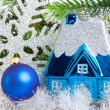 Toy small house - New Year's dream of own house — Stock Photo
