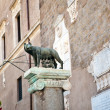 The statue of Romul, Remus and she-wolf in Rome, Italy — Stock Photo #7683722