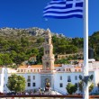 Stock Photo: Panormitis Monastery in Symi island, in Greece