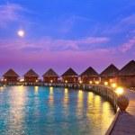 Island in ocean, Maldives. Night — Stock Photo #7900977