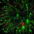 Bright fireworks in the night sky - Stok fotoğraf