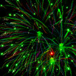 Bright fireworks in the night sky - Foto de Stock