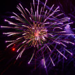 Bright fireworks in the night sky - Stockfoto