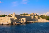 Greece. Rhodes. An ancient fortification round an old city — Stock Photo