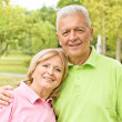 Happy elderly couple — Stock Photo #6786315