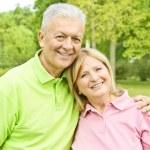 Romantic elderly couple — Stock Photo