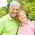Happy elderly couple — Stock Photo #6787692