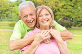 Feliz casal de idosos — Fotografia Stock