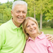 Portrait of happy senior couple outdoors — Stock Photo