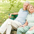 Romantic senior couple relaxed — Stock Photo