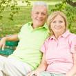 Happy senior couple relaxed — Stock Photo
