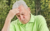 Portrait of worried senior man — Foto Stock