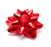 Gift red bow — Stock Photo