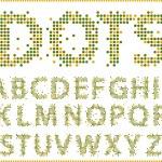 Halftone alphabet. — Stock Vector