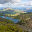 Mountain view from the Snowdon summit, Snowdonia, Wales — Stock Photo