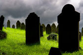 Old gravestones in a Cemetery — Stock Photo