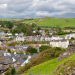 Criccieth village in North Wales — Stock Photo