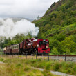 Steam train in Snowdonia, Wales — Stock Photo #6915213
