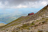 Steam Train heading to the Snowdon summit, Snowdonia, Wales — Stock Photo