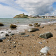 Stock Photo: Criccieth beach in North Wales