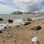Criccieth beach in North Wales — Stock Photo