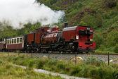 Steam train in Snowdonia, Wales — Stock Photo