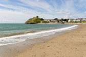 Criccieth beach in North Wales — Stock Photo