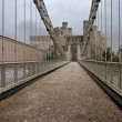 Stock Photo: Bridge heading to Conwy castle , Wales