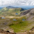 Mountain view from Snowdon summit, Snowdonia, Wales — Stock Photo #7118693