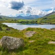 Lake in Snowdoniwith views to Snowdon — Stock Photo #7213188