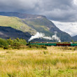 Steam train in Llamberris, Snowdonia, Wales — Stock Photo #7213193