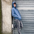 Young handsome boy in urban background — Stock Photo #7525389