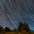Star trails — Stock Photo