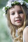 Girl on her first Holy Communion — Stock Photo