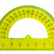 Yellow protractor — Stock Photo
