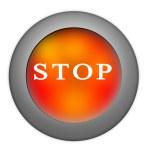 Stop button — Stock Photo
