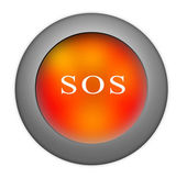 SOS button — Stock Photo