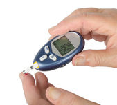 Home glucose meter — Stock Photo
