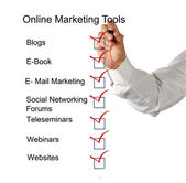 Herramientas de marketing online — Foto de Stock