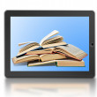 Stock Photo: Symbol of digital library and e-reader