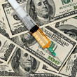Stock Photo: Narcotics and money