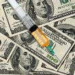Narcotics and money - Stock Photo